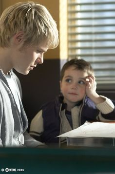 Randy Harrison as Justin, with Gus on Queer As Folk ❤