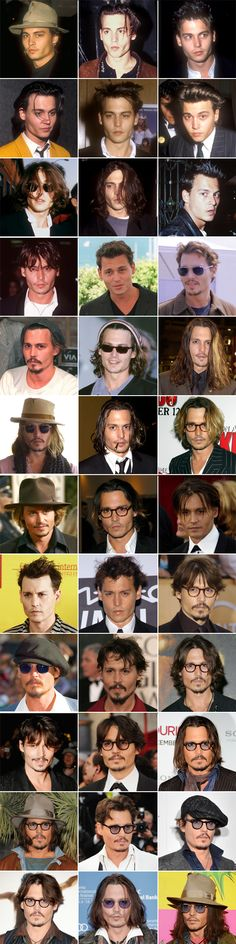 Johnny Depp through the years!