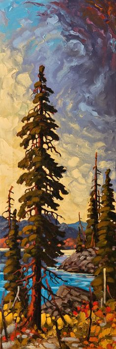 North End of the Lake (Okanagan), by Rod Charlesworth 12x36 Contemporary Abstract Art, Contemporary Landscape, Landscape Art, Landscape Paintings, Lake Painting, Painting Prints, Watercolor Paintings, Acrylic Paintings, Painted Driftwood