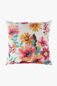 This crewel, embroidered scatter cushion with a pretty, floral detail is a great way to add some interest to your decor. Strategically place on your favori Cushions, Decor, Decor Gifts, Scatter Cushions, Tapestry, Fabric, Home Decor, Home Decor Shops, Floor Cushions
