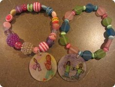 Shrinky dink mother's day bracelets!- Thank you for this idea Michelle, doing this with the kids this weekend.