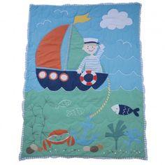 Sailor Cot Blanket Quilt