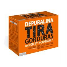 Nova Depuralina Tira Gorduras é um suplemento alimentar, natural, à base de plantas desenvolvido especificamente para recuperar a silhueta agradável. Depuralina Tira Gorduras contém um composto de OB-X e CAPSIMAX assim como Alcachofra, Aloé Vera, Colina e Crómio que ajudam no emagrecimento.
