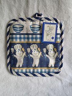Pillsbury Dough Boy Kitchen Towel And 2 Potholders Pillsbury