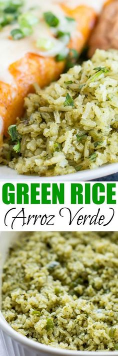 Green Rice, also known as Arroz Verde, is an upgraded, special-occasion version of Mexican Rice. Go ahead, try something new! Your family is going to LOVE IT. #greenrice #mexicanfood