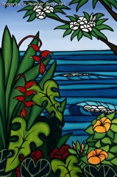 Surf art by Heather Brown - Original paintings & prints - waves, ocean, surf art from hawaii
