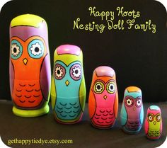 Owl Nesting Dolls from Etsy