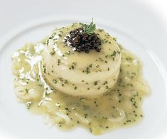 Timbales of Sole & Scallop Mousseline with Chive Beurre Blanc Recipe, make with lobster and scallops