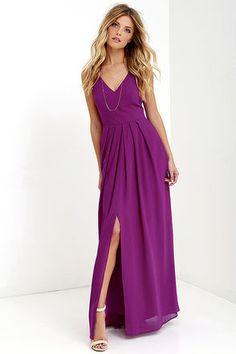 Show of Decorum Magenta Purple Maxi Dress