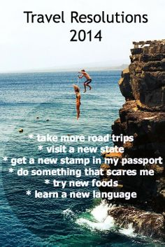 Travel Resolutions New Year 2014