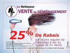 Imprimez votre coupon nettoyeur à 25% de rabais. Maitre Cordonnier et Le Nettoyeur #Loblaws , #Montreal, #Coupons, #nettoyeur, #drycleaners