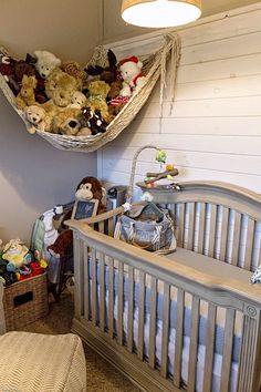 Adorable baby boy nursery with some rustic/industrial elements. Mom and Dad designed this budget friendly nursery and purchased items from Target, Babies R Us and selected a few older pieces to refinish as well. SO CUTE!