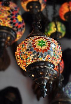 Bohemian lamps This would be cool for the attic.