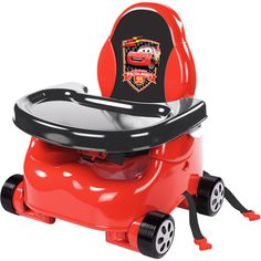 Disney - Cars Lil' Speedster Booster Seat.  @Summer Olsen Bartlett for Baby B with the race car theme!