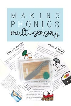 What is multi-sensory learning? Why is it important to incorporation multi-sensory learning strategies into our instruction? Find out what it is, why you should be using it, and snag these FREE Multi-Sensory Phonics Kits on the blog. Phonics Lessons, Sound Words, Multi Sensory, Phonics Reading, New Classroom, Classroom Ideas, Adding And Subtracting, Teaching Aids, Picture Cards