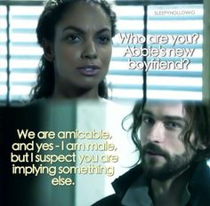 Jenny and Ichabod - I was in hysterics when he answered that!