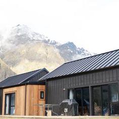Cedar and Black Cladding House Exterior Open Plan Home Design Evolution Homes Ec. Cedar Cladding, House Cladding, Exterior Cladding, Black Cladding, Cedar Siding, Black House Exterior, Exterior House Colors, Tiny House, Small Houses