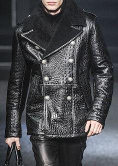 Luxe leather embossed jacket. Philipp Plein Menswear f/w 2014 ZsaZsa Bellagio – Like No Other