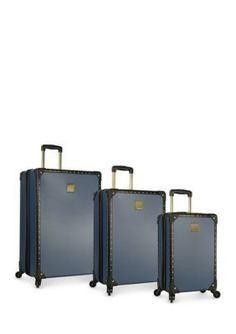 Vince Camuto Nightshadow Blue Loma 3 Piece Hardside Luggage Set