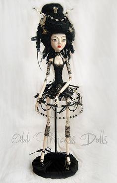 lucille odd princess of night butterflies ooak jointed victorian art doll by nina yeghlazuryan
