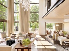 Soaring ceilings add major style to these spectacular rooms