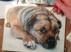Art has been a lifelong passion & I've painted 40+ years. My first print was published by Wild Wings in '95 & though it's a livelihood, I paint because it's FUN! I love dogs & painting dog portraits.