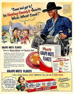 Hopalong Cassidy for Grape-Nuts Flakes