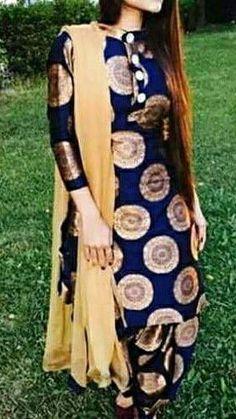 Kurti Back Neck Designs, New Kurti Designs, Salwar Designs, Dress Neck Designs, Blouse Designs, Patiala Dress, Patiala Salwar Suits, Designer Punjabi Suits, Indian Designer Wear