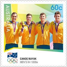Australian K4 Mens Kayak won gold medal 1000m race 2012 London Olympics.