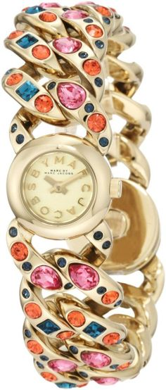 New Authentic Marc By Marc Jacobs Katie Mini Gold Watch MBM3144