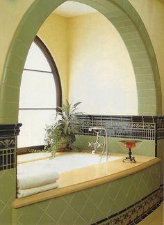 The most beautiful bathtub ever. Period.  katiedid: California Vernacular, Ann Sacks tile