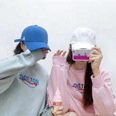 With Eunha ♡♡ Grunge Style, Soft Grunge, Korea Fashion, Kpop Fashion, Asian Fashion, Style Ulzzang, Ulzzang Boy, Best Friend Goals, My Best Friend