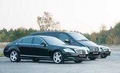 Das sind BlackLane-Limousinen: Mercedes E-Klasse, S-Klasse, Mercedes Viano
