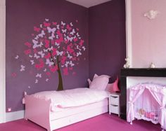 butterfly wall decals for girls room | Butterfly Tree Nursery Wall Decal #1140 - InnovativeStencils
