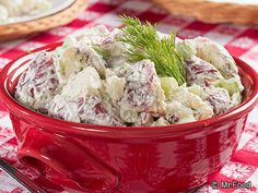 Dill Potato Salad - This red potato salad combines fresh dill and low-fat ingredients (like yogurt) to give it a creamy and fresh taste that won't ruin your diet!