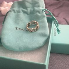 Authentic Tiffany and Co. Heart ring Size 5 silver hardly worn and kept in bag and box Tiffany & Co. Jewelry Rings