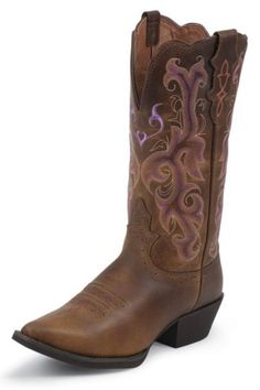 Justin Vintage Buffalo Stampede Cowgirl Boots........i think thats a hint a purple