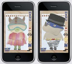 paper town app for iphone. dress up friends made of paper! so cute!