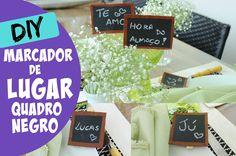 MARCARDOR DE LUGAR QUADRO NEGRO - DIY - #clubedacasa