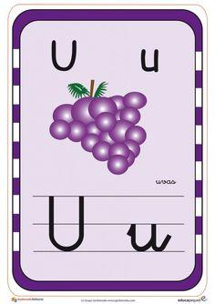 Tarjetas para aprender el abecedario y repasar las letras Activities For Kids, Alphabet, Homeschool, Lettering, Portal, Origami, Molde, Learning Letters, Toddler Learning Activities