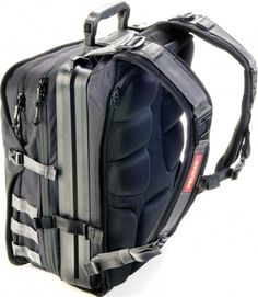 The U100 Elite Laptop Backpack integrates a full hard case near the back
