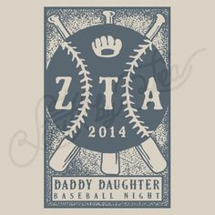 Sorority Social Zeta Tau Alpha Daddy Daughter Vintage Baseball Night South By Sea