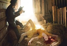 Playing: Jack White & Karen Elson by Annie Leibovitz for US Vogue by bp fallon, via Flickr