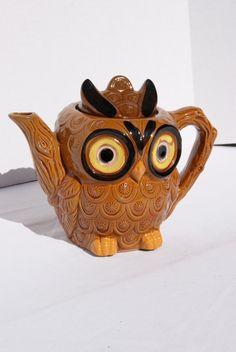 Vintage Kitsch Japan Owl Coffee Tea Pot op Etsy, 24,89 €