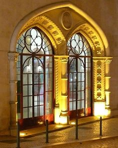 Rossio railway station, Lisbon by alisha Visit Portugal, Spain And Portugal, Portugal Travel, Gothic Architecture, Architecture Details, Ancient Architecture, Mellow Yellow, Beautiful Buildings, Windows And Doors