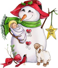 *SNOWMAN know what Christmas is about!