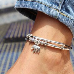 Lucy Anklet Add Your Charm Choice in Silverplate w 2 Leather Strand – Lizzy James Silver Ankle Bracelet, Ankle Jewelry, Gold Anklet, Beaded Anklets, Anklet Bracelet, Body Jewelry, Sterling Silver Anklet, Jewellery, Silver Ring