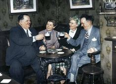 Laurel & Hardy on holidays with their wives in Ireland c.1950