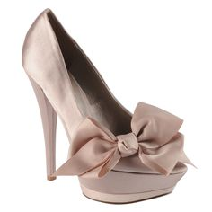 Peep-toe heels from Aldo.I peep-toe heels Prom Shoes, Wedding Shoes, Bridesmaid Shoes, Crazy Shoes, Me Too Shoes, Peep Toe Heels, Shoes Heels, Tan Heels, Satin Pumps