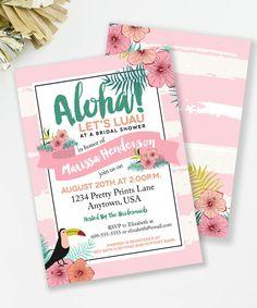 Luau Bridal Shower Invitation. Cute for a summer bridal shower or luau party couples shower!